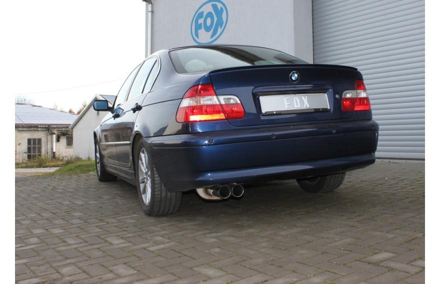 Fox Edelstahl Mittelschalldämpfer-Ersatz BMW 3er E46 320i 323i 325i 328i 330i