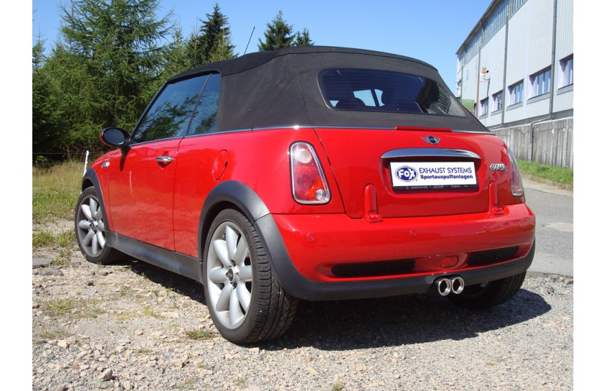 fox sportauspuffanlage ab kat mittig mini cooper s cabrio. Black Bedroom Furniture Sets. Home Design Ideas