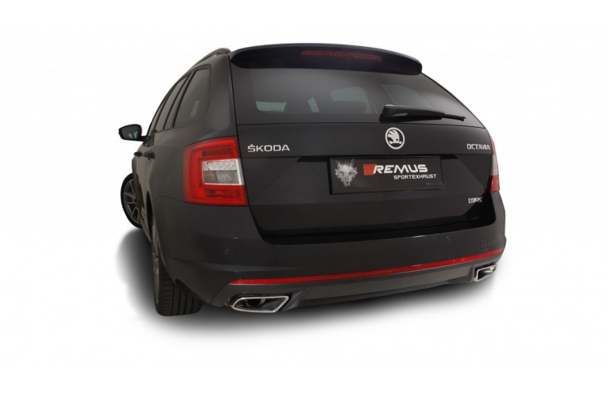 remus cat back sportauspuffanlage mit klappe skoda octavia. Black Bedroom Furniture Sets. Home Design Ideas