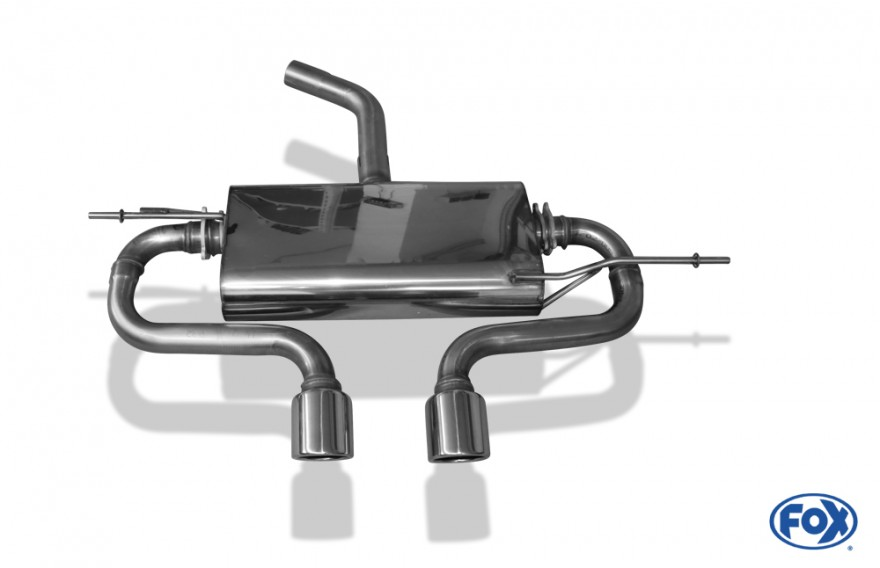 fox sportauspuff vw golf 5 typ 1k bj 2003 2008 passend. Black Bedroom Furniture Sets. Home Design Ideas