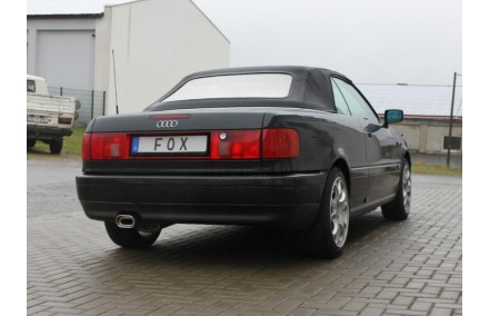 FOX Sportauspuff Audi 80/90 Typ 89 B3 Limousine/Coupe + B4 Cabrio, Endrohr 135x80mm flachoval