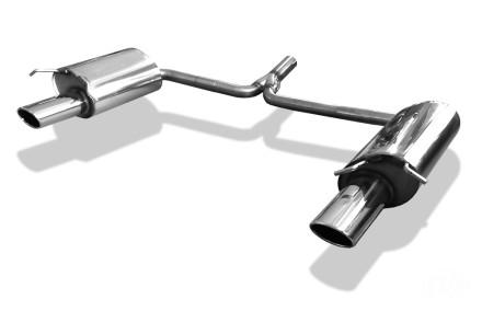 fox duplex sportauspuff mercedes c klasse w204 s204 bj. Black Bedroom Furniture Sets. Home Design Ideas