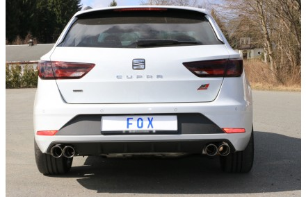 fox duplex sportauspuff seat leon 3 st cupra 300 4drive, typ 5f, bj