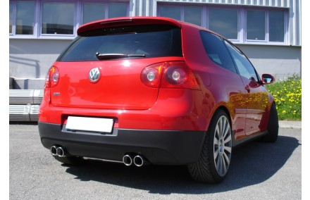 fox duplex racing sportauspuffanlage ab kat vw golf 5 gti. Black Bedroom Furniture Sets. Home Design Ideas