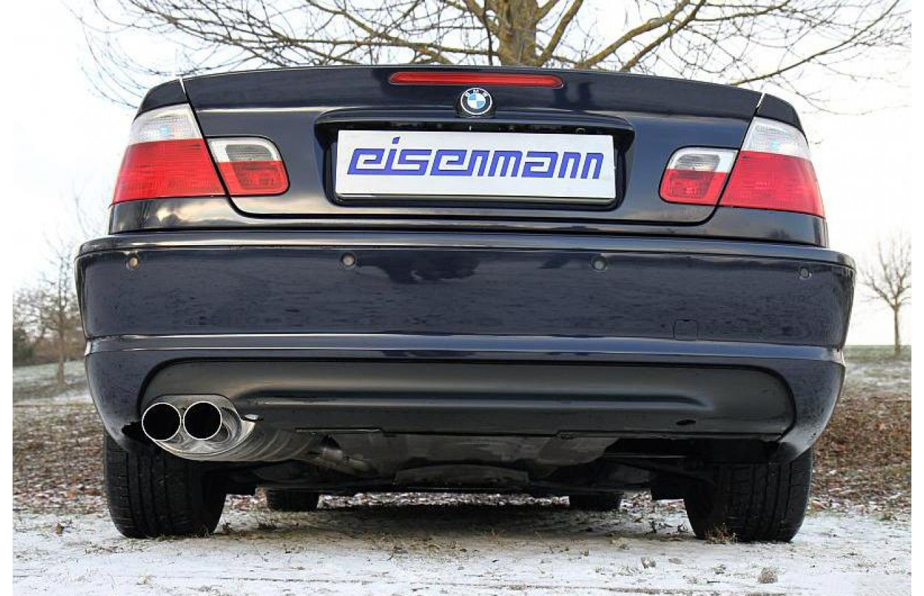 eisenmann sportauspuff bmw 3er e46 318d 320d limo touring. Black Bedroom Furniture Sets. Home Design Ideas