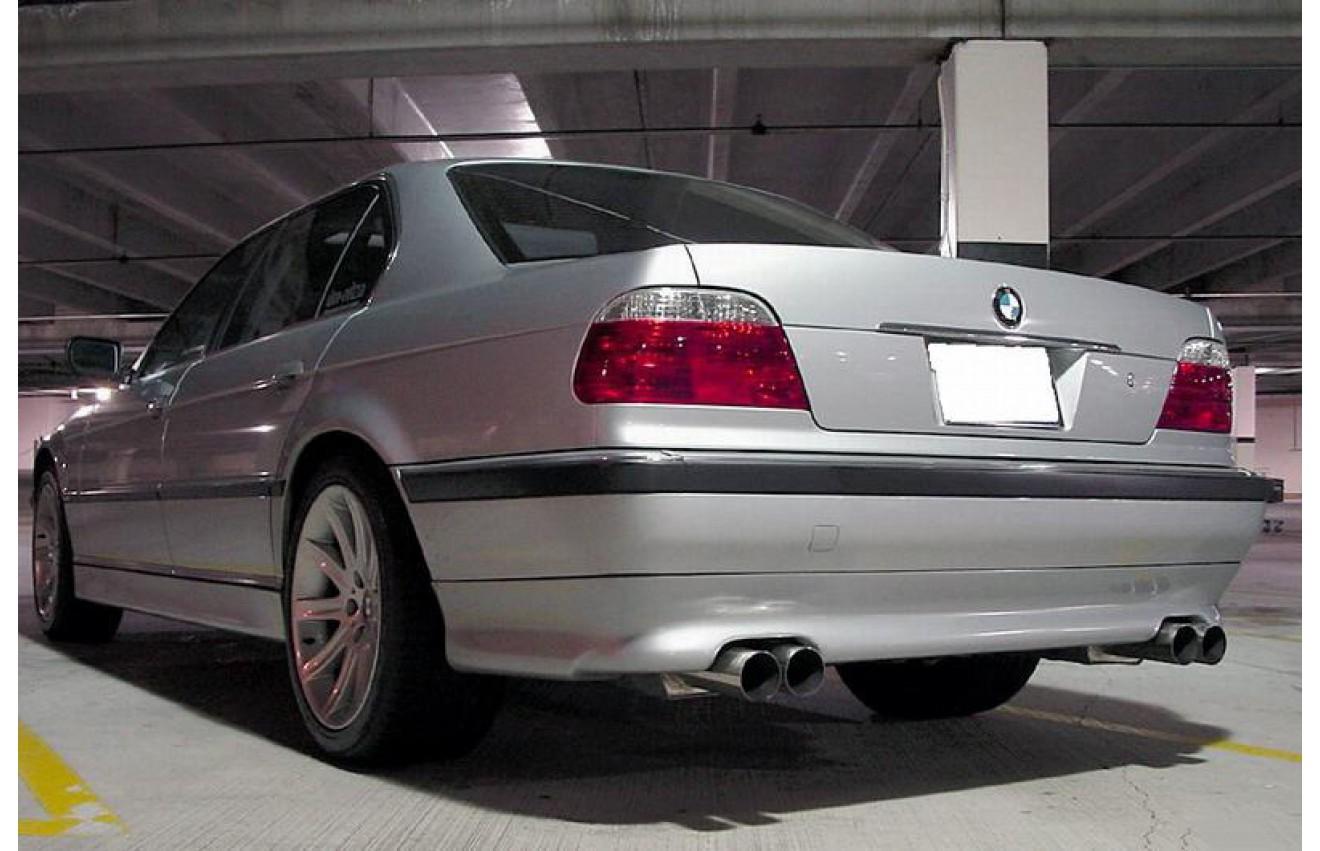 Eisenmann Duplex Sportauspuff BMW 7er E38 750i Bj 1994 2001 240kW 326PS Endrohr 2x83mm Rund Je Rechts Links