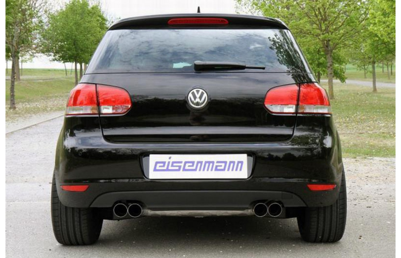 eisenmann duplex sportauspuff vw golf 6 typ 1k 5k bj. Black Bedroom Furniture Sets. Home Design Ideas