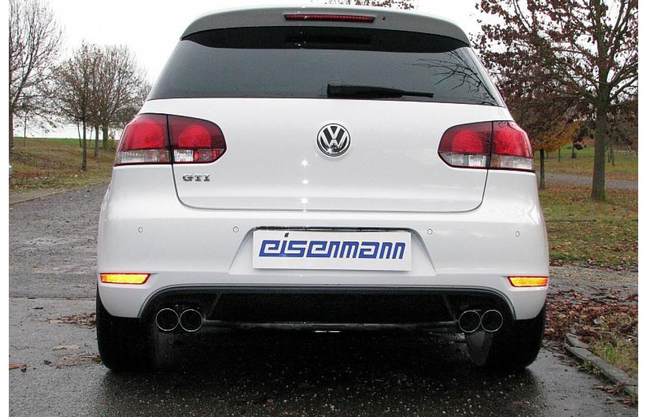 eisenmann duplex racing sportauspuffanlage ab kat vw golf 6 gti typ 1k 5k bj 2009 2012. Black Bedroom Furniture Sets. Home Design Ideas